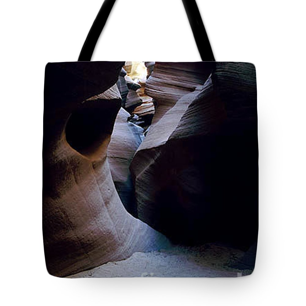 Slot Canyons Tote Bag featuring the photograph Into the Depths by Kathy McClure