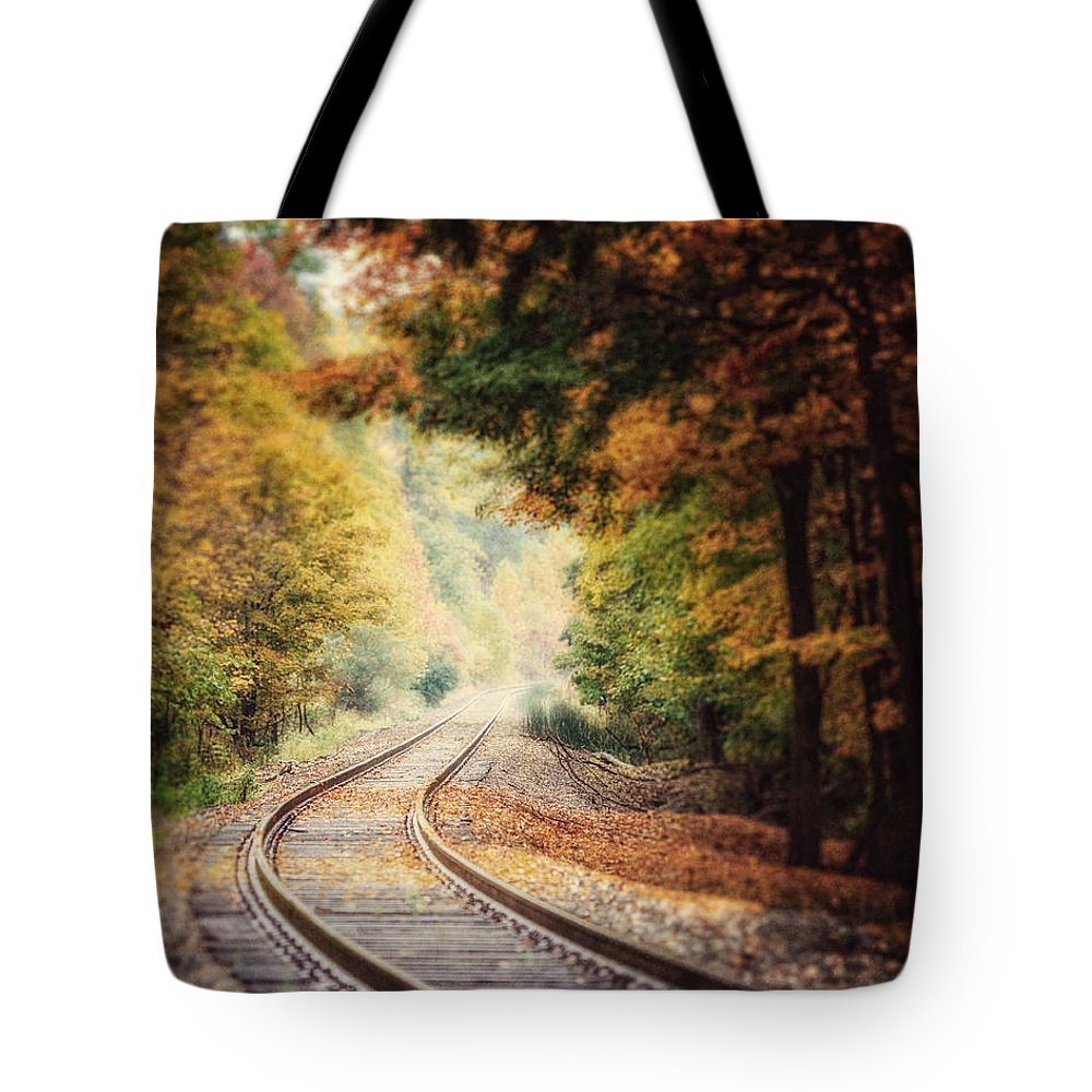 Landscape Tote Bag featuring the photograph Into The Fog by Lisa Russo