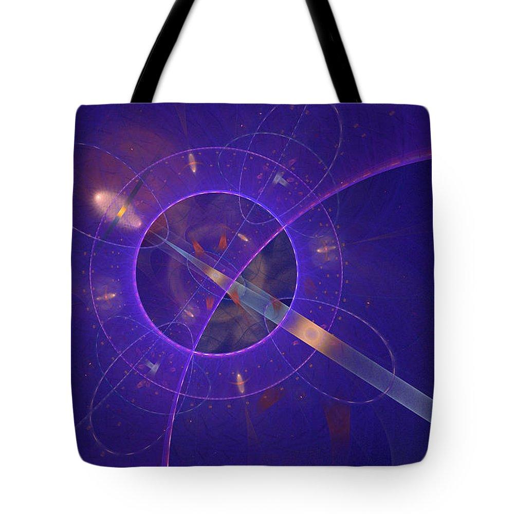 Fractal Tote Bag featuring the digital art Into The Future by Deborah Benoit