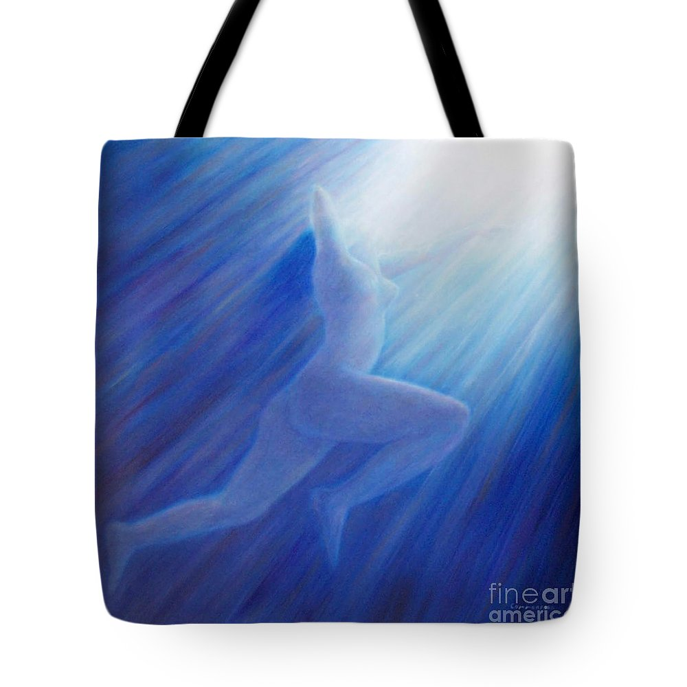 Spiritual Tote Bag featuring the painting Into The Light by Brian Commerford
