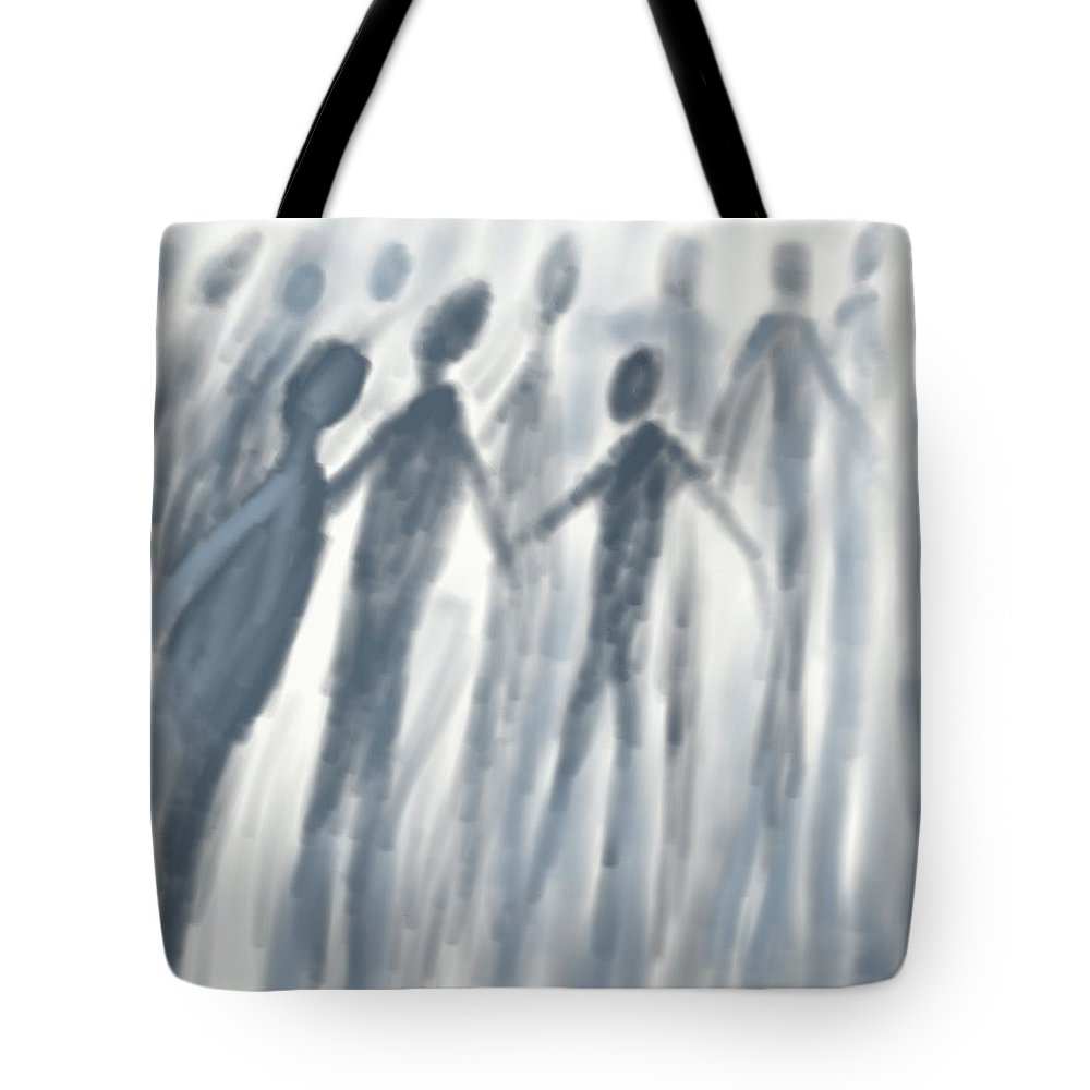 Spiritual Tote Bag featuring the digital art Into The Light  by David Michael Schmidt