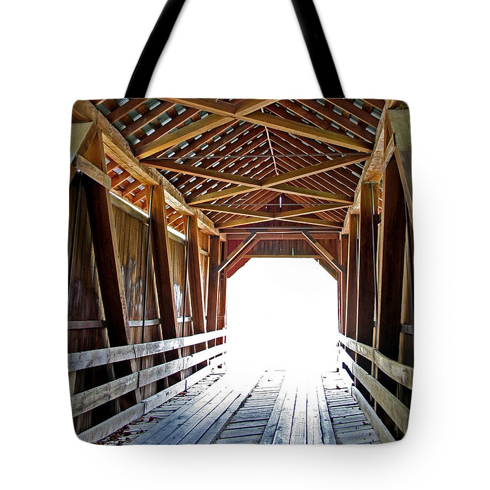 Light Tote Bag featuring the photograph Into The Light by Margie Wildblood