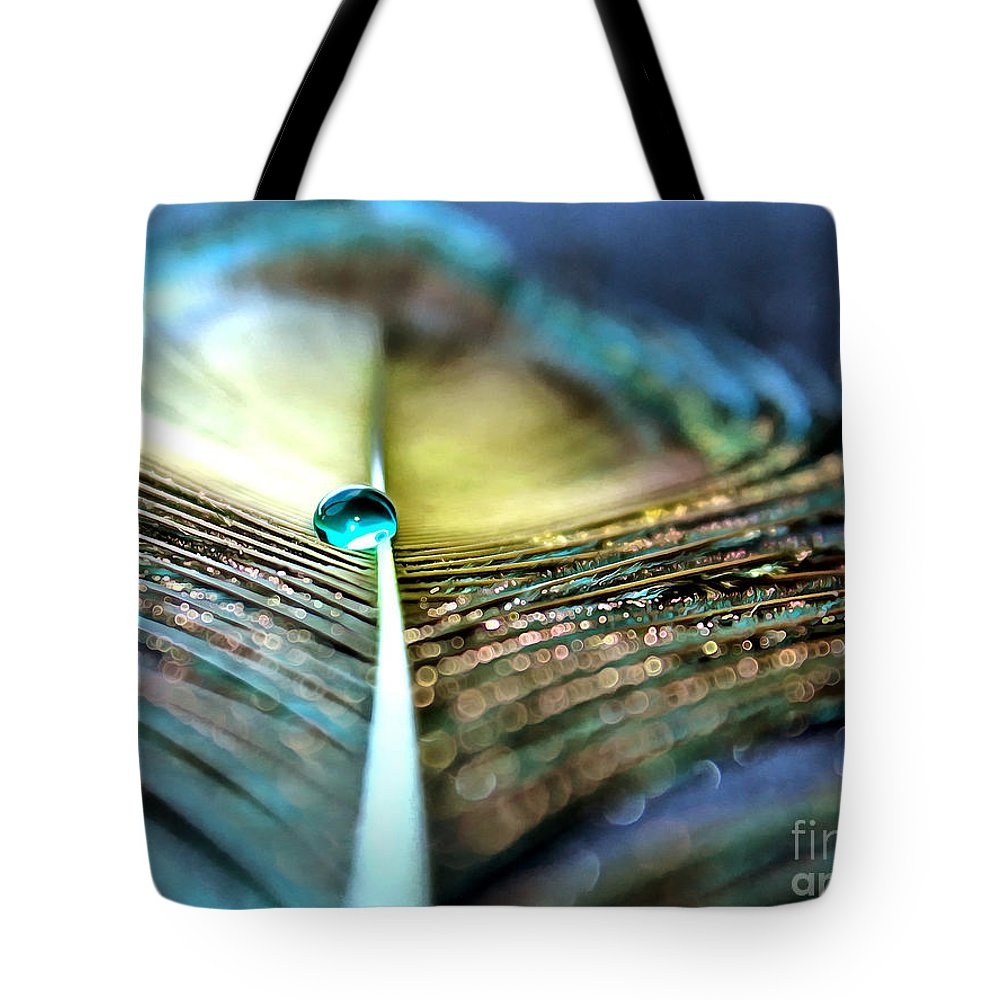 Peacock Feather Tote Bag featuring the photograph Into The Night by Krissy Katsimbras