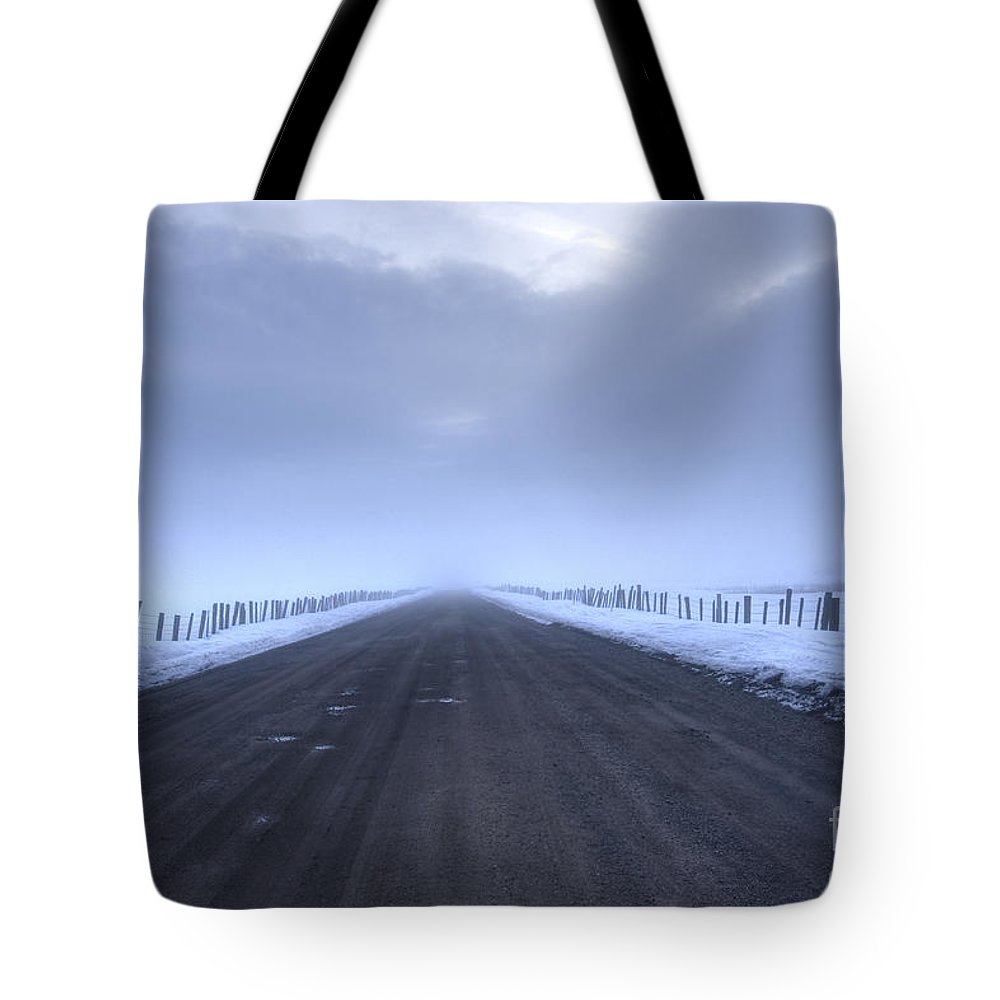 Fog Tote Bag featuring the photograph Into The Unknown by Idaho Scenic Images Linda Lantzy