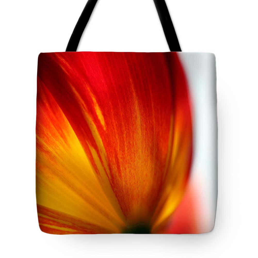 Tulip Tote Bag featuring the photograph Introverted by Amanda Barcon