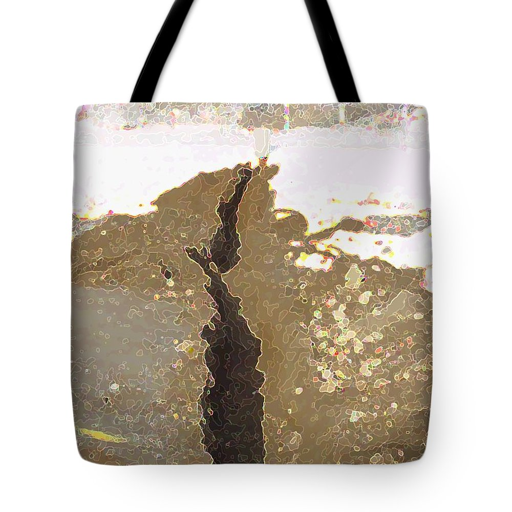 Abstract Tote Bag featuring the digital art Intrusion by Ron Bissett