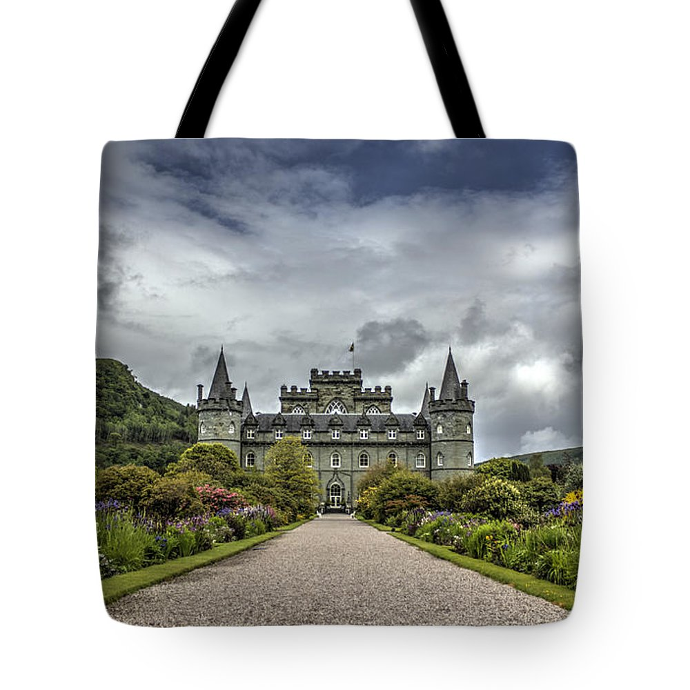 Inveray Tote Bag featuring the photograph Inveray Castle by Chris Whittle