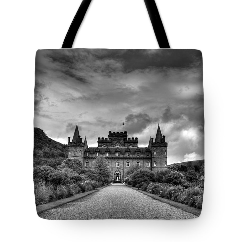 Inveray Tote Bag featuring the photograph Inveray Grey by Chris Whittle