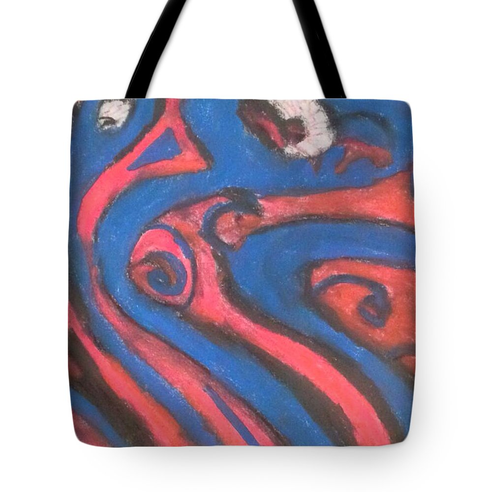 Chalk Tote Bag featuring the digital art Inverted Dream Beings by Roy Hummel