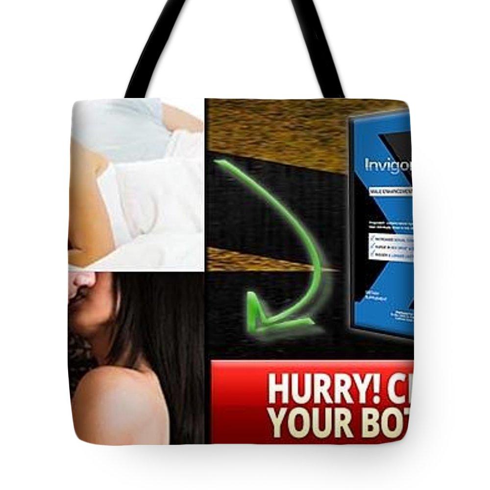 Invigoratex Tote Bag featuring the drawing Invigoratex by InvigorateX