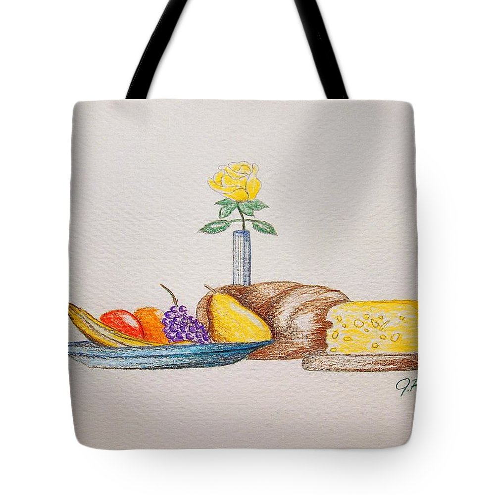 Drawing Tote Bag featuring the drawing Invitation by J R Seymour