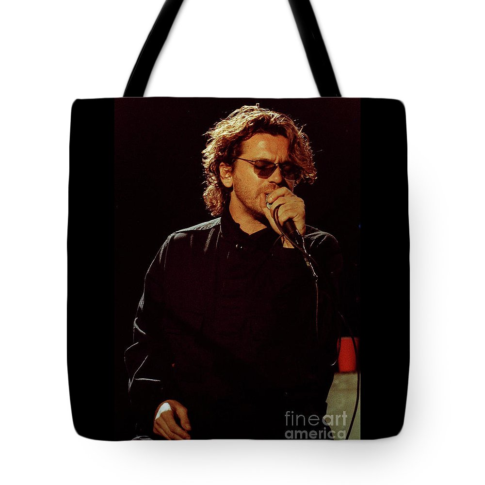 Inxs Tote Bag featuring the photograph Inxs-94-michael-1235 by Timothy Bischoff