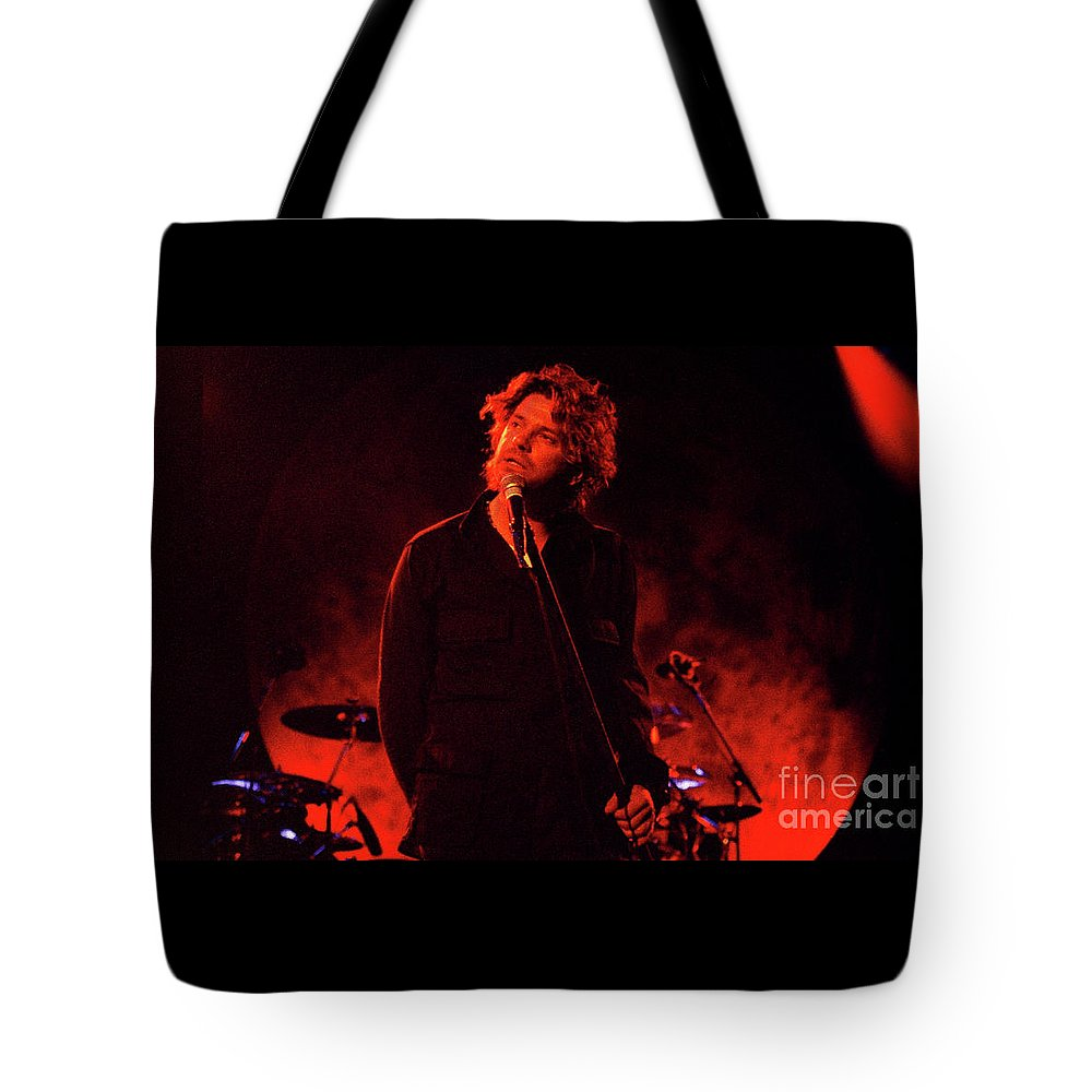 Inxs Tote Bag featuring the photograph Inxs-94-michael-1270 by Timothy Bischoff