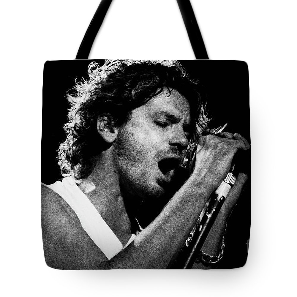 Inxs Tote Bag featuring the photograph Inxs-94-michael-1319 by Timothy Bischoff