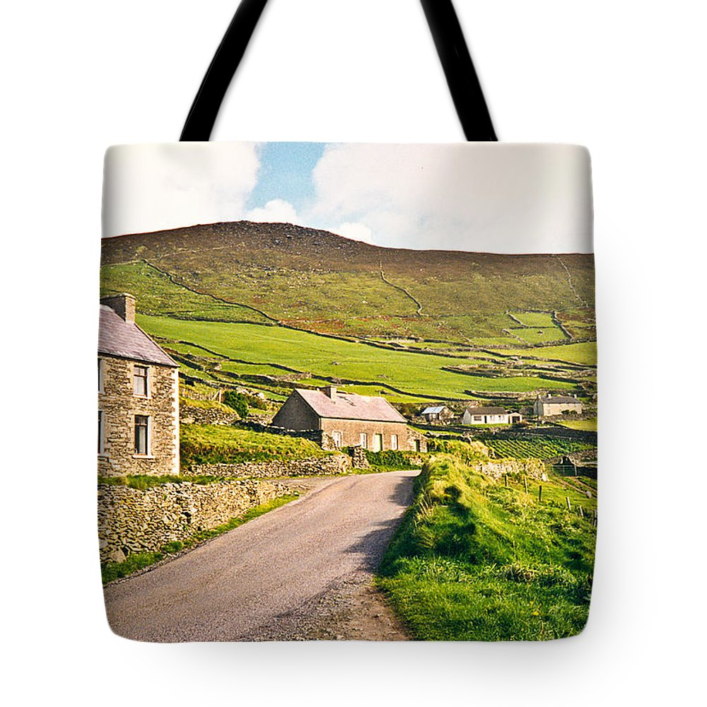 Ireland Tote Bag featuring the photograph Ireland Farmland by Douglas Barnett