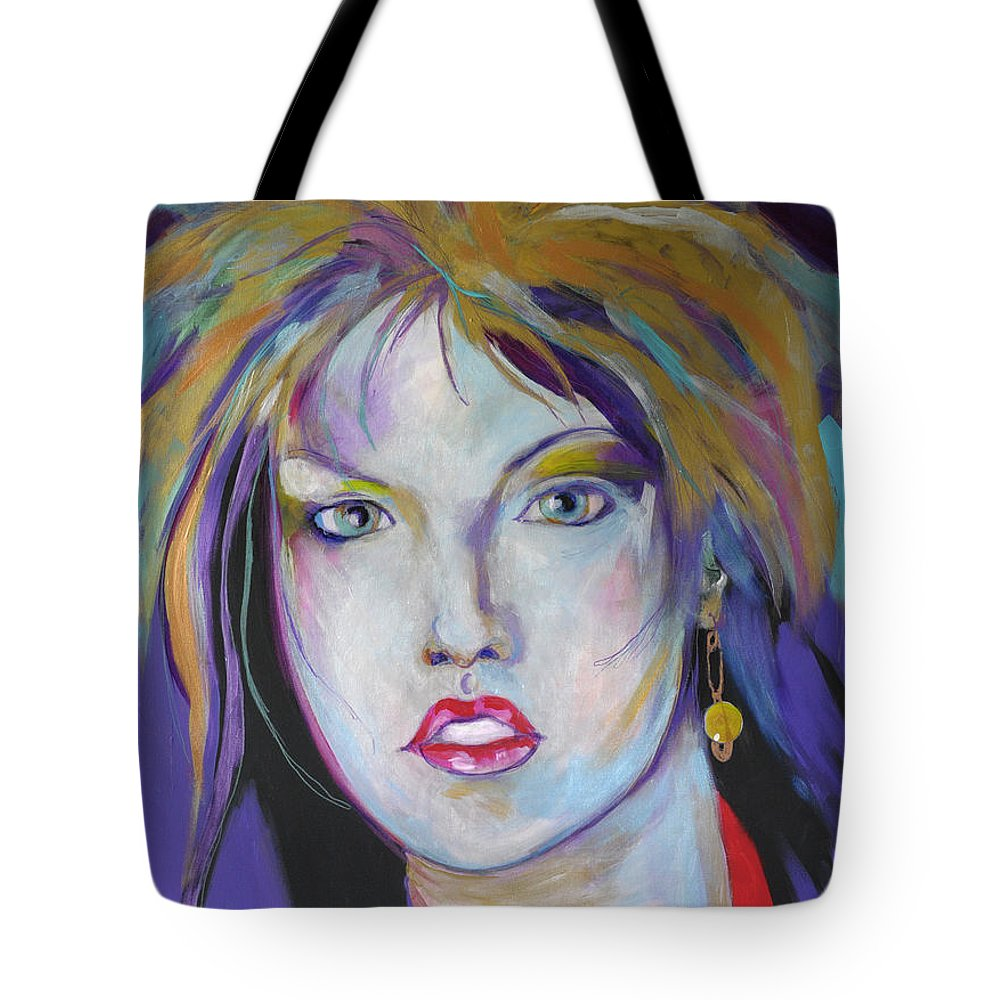 Portait Tote Bag featuring the painting Iridescent Beauty by Michael Clifford Shpack