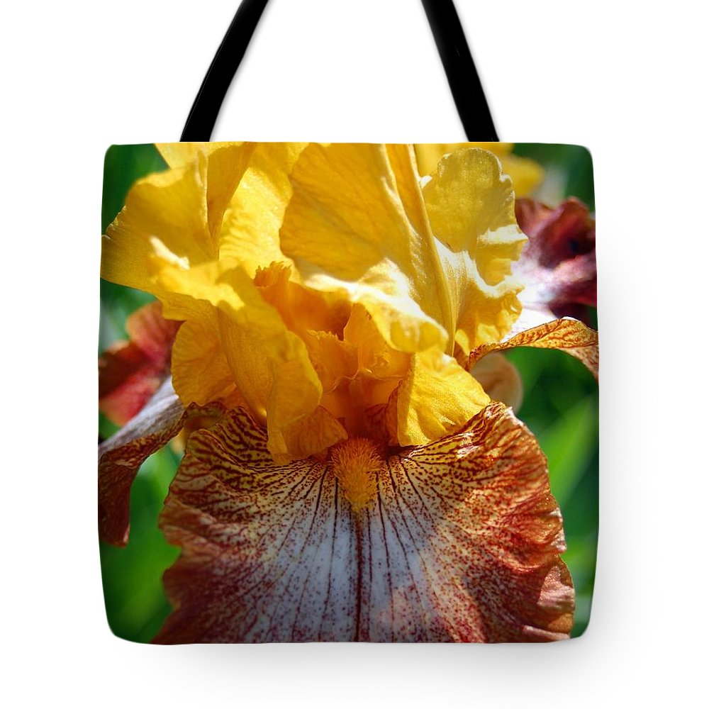 Flower Tote Bag featuring the photograph Iris 1 by Amy Fose