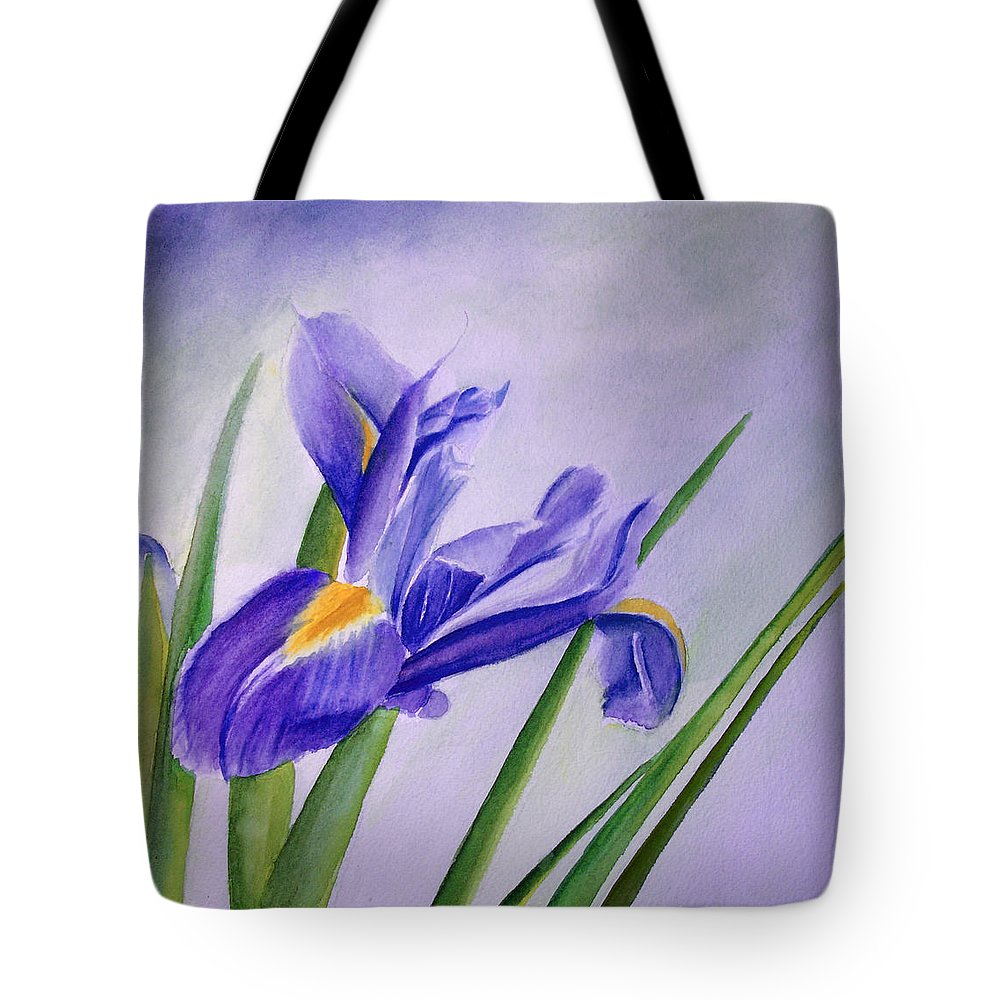 Iris Tote Bag featuring the painting Iris by Allison Ashton