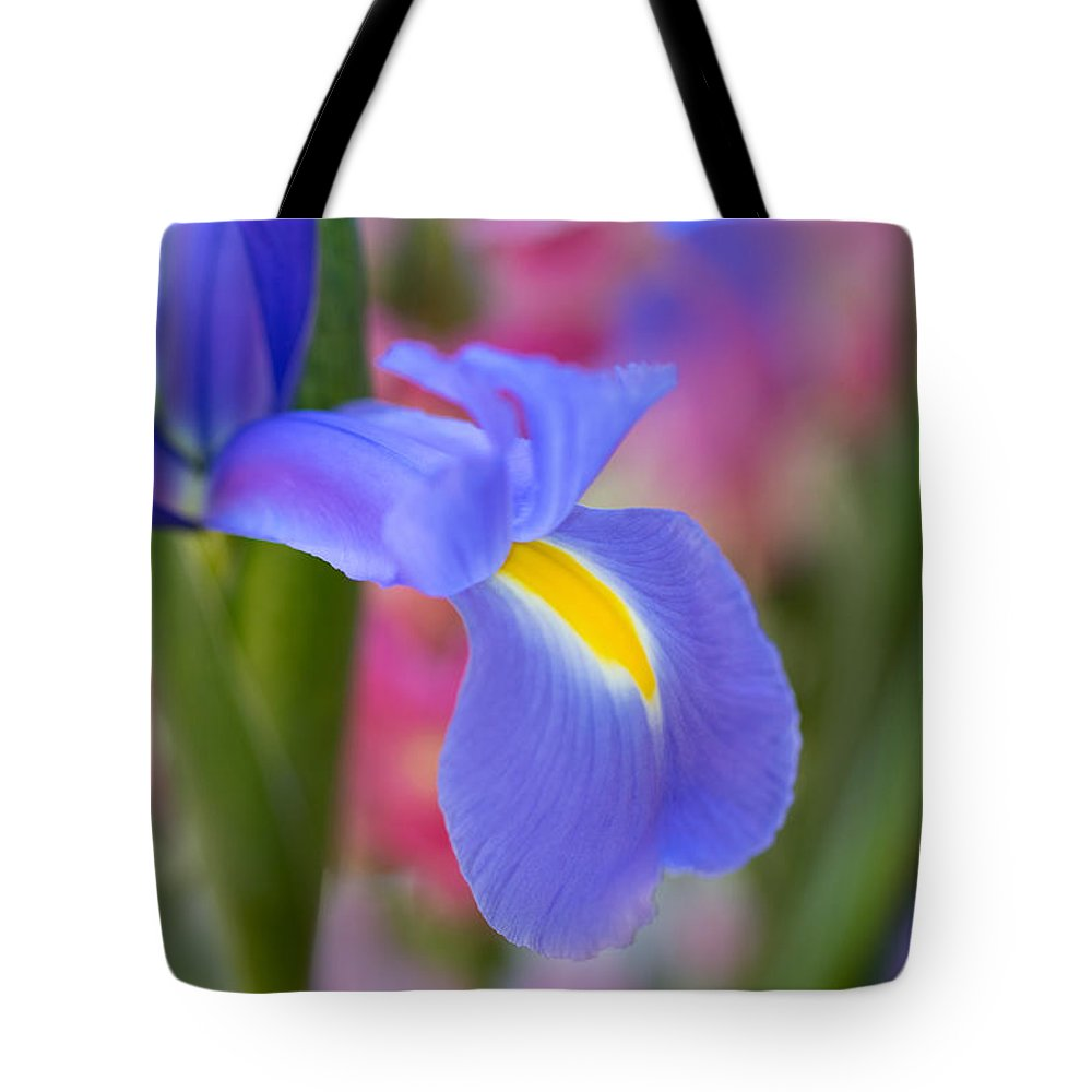 Flower Tote Bag featuring the photograph Iris Flower by Mimi Ditchie