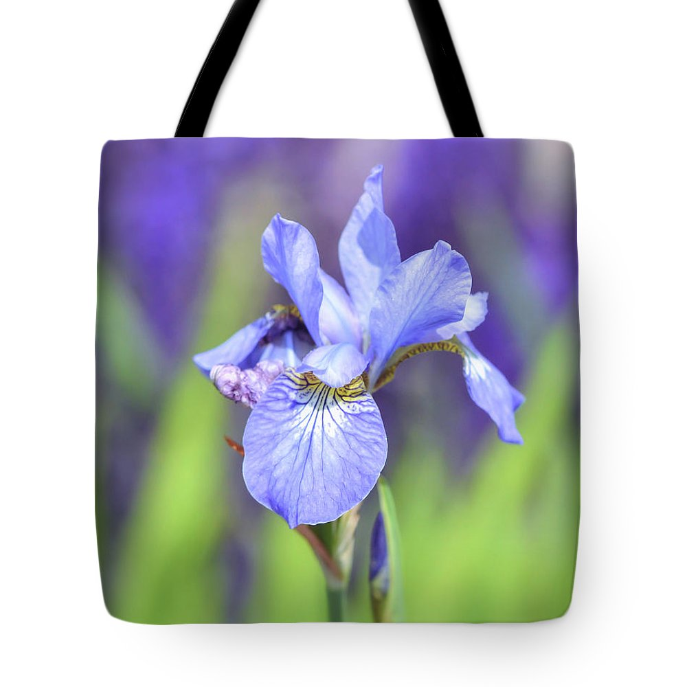 Iris flowers of spring tote bag for sale by kerri farley iris tote bag featuring the photograph iris flowers of spring by kerri farley izmirmasajfo