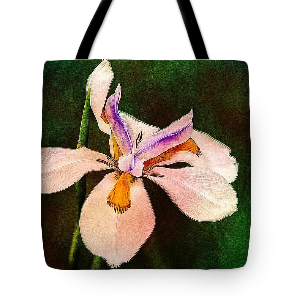 Alicegipsonphotographs Tote Bag featuring the photograph Iris Greens by Alice Gipson