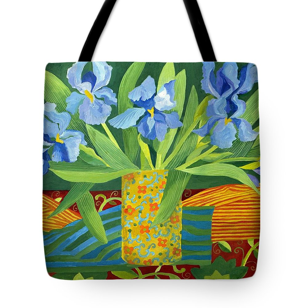 Iris Tote Bag featuring the painting Iris by Jennifer Abbot