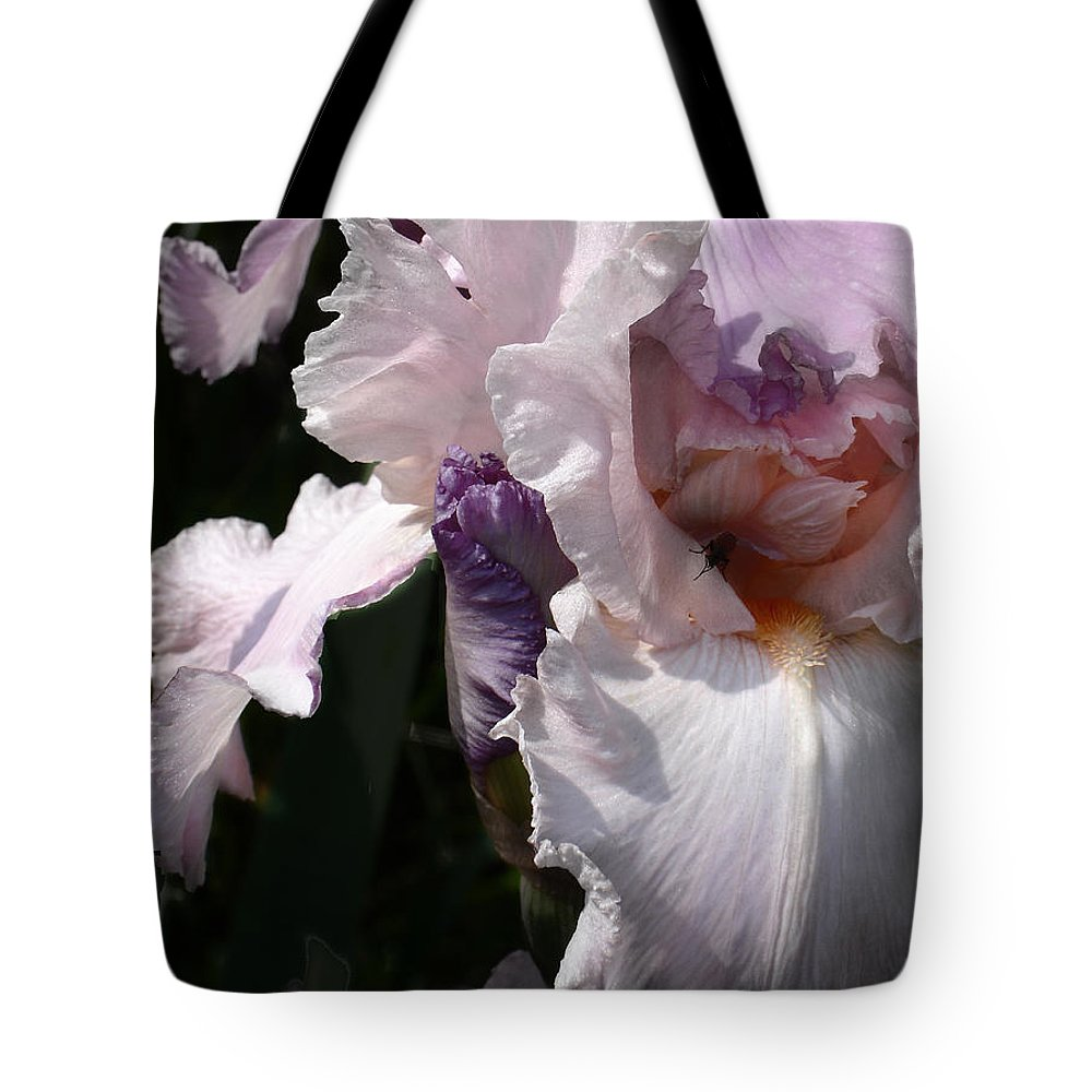 Flower Tote Bag featuring the photograph Iris Lace by Steve Karol