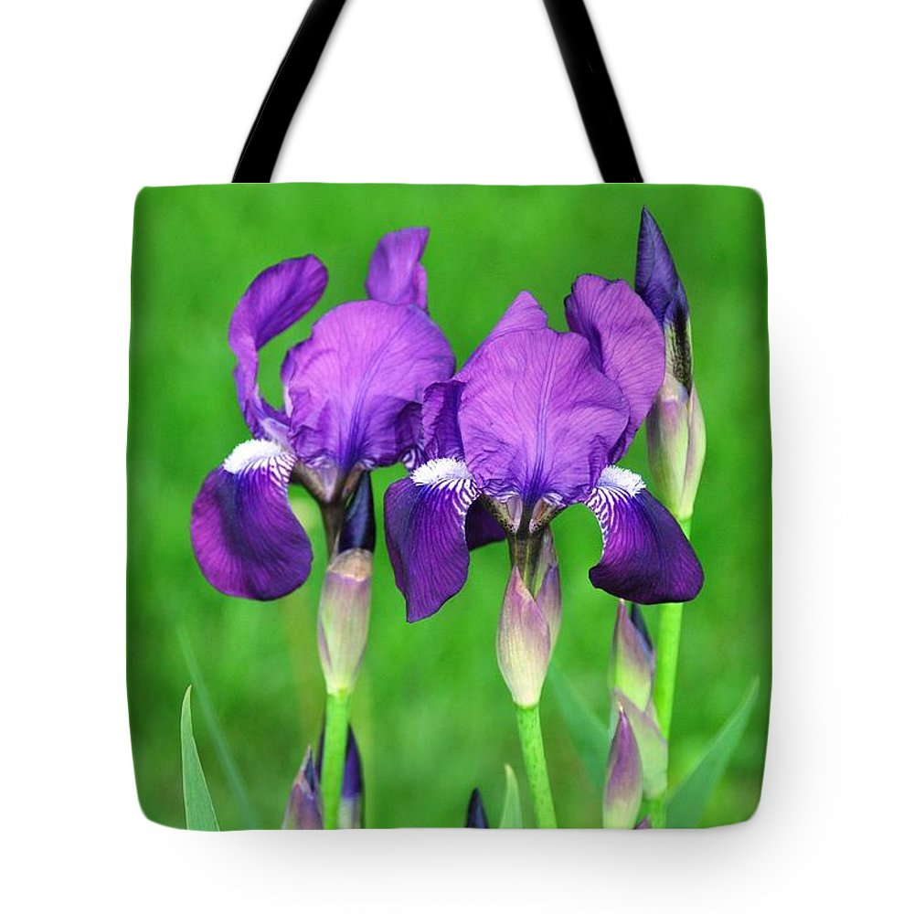 Flower Tote Bag featuring the photograph Iris by Rich Bodane