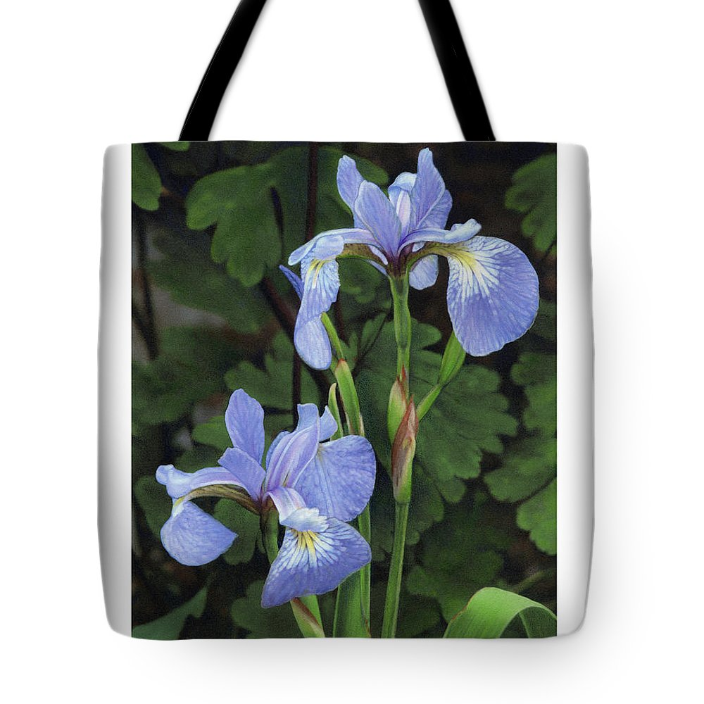 Iris Tote Bag featuring the drawing Iris Study by Bruce Morrison