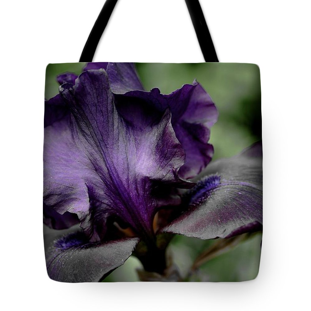 Betsy Lamere Tote Bag featuring the photograph Iris - Superstition by Betsy LaMere