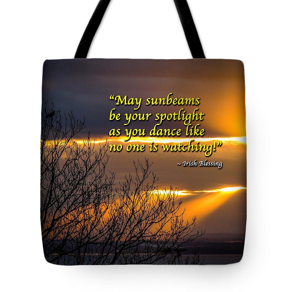 Ireland Tote Bag featuring the photograph Irish Blessing - May Sunbeams Be Your Spotlight by James Truett