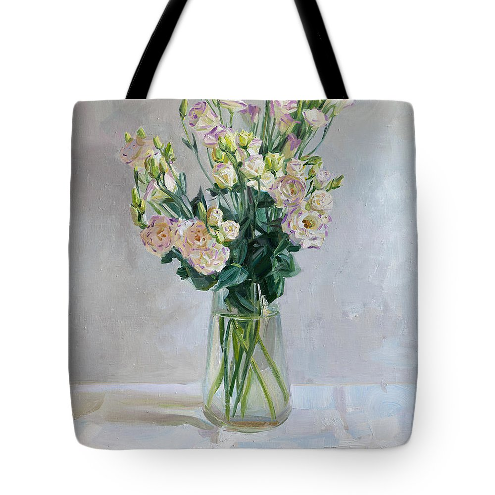 Flowers Tote Bag featuring the painting Irish Rose by Victoria Kharchenko