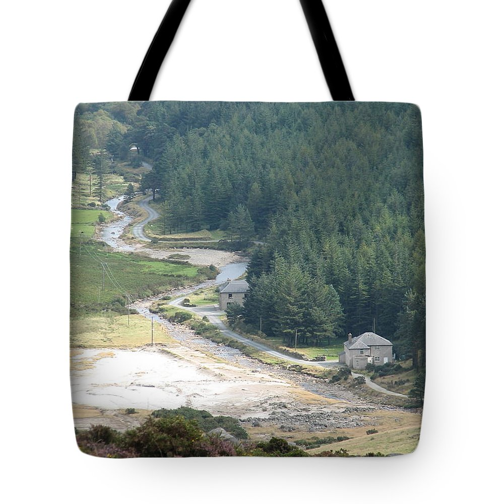 Ireland Tote Bag featuring the photograph Irish Valley by Kelly Mezzapelle
