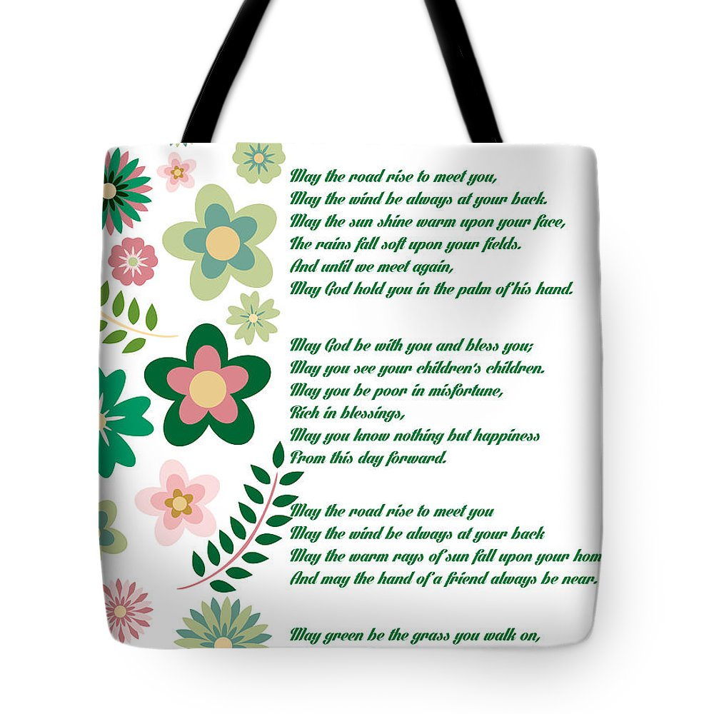Irish Wedding Blessing Prayer Tote Bag for Sale by Celestial Images