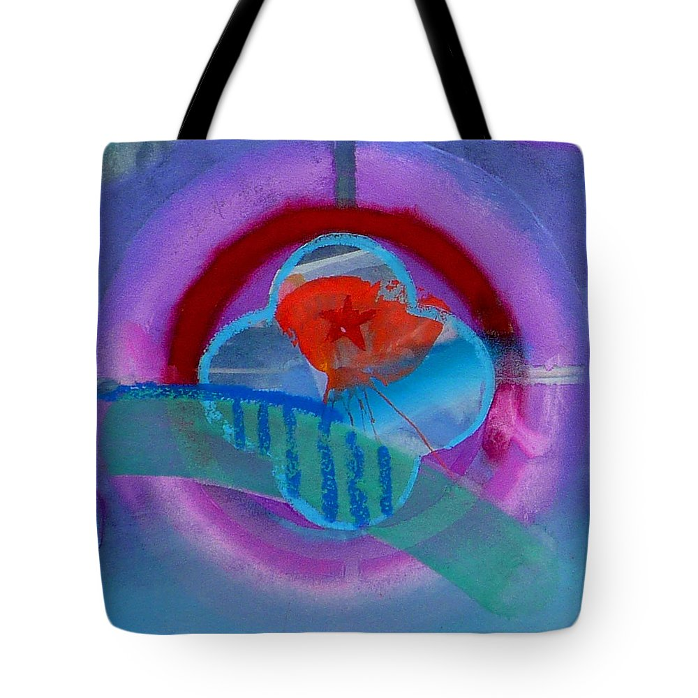 Logo Tote Bag featuring the painting Iron Butterfly by Charles Stuart