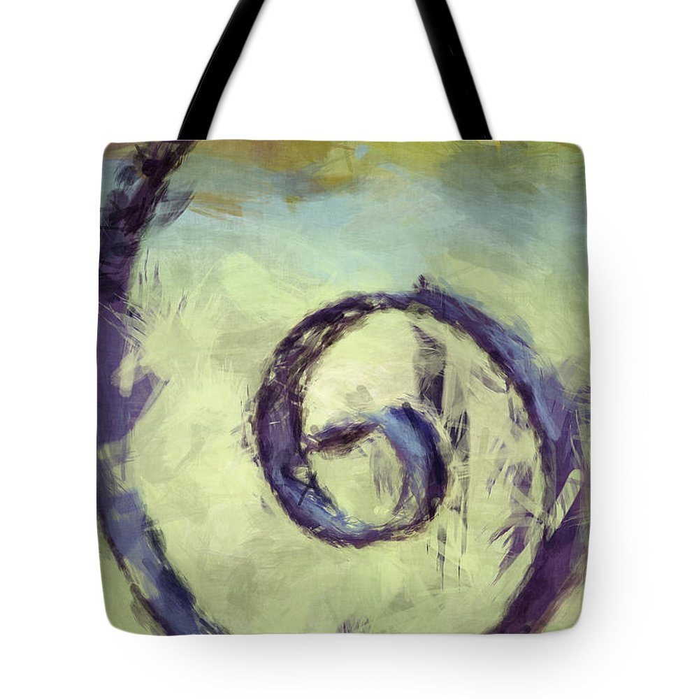 Iron Gate Tote Bag featuring the photograph Iron Swirl by Donna Bentley