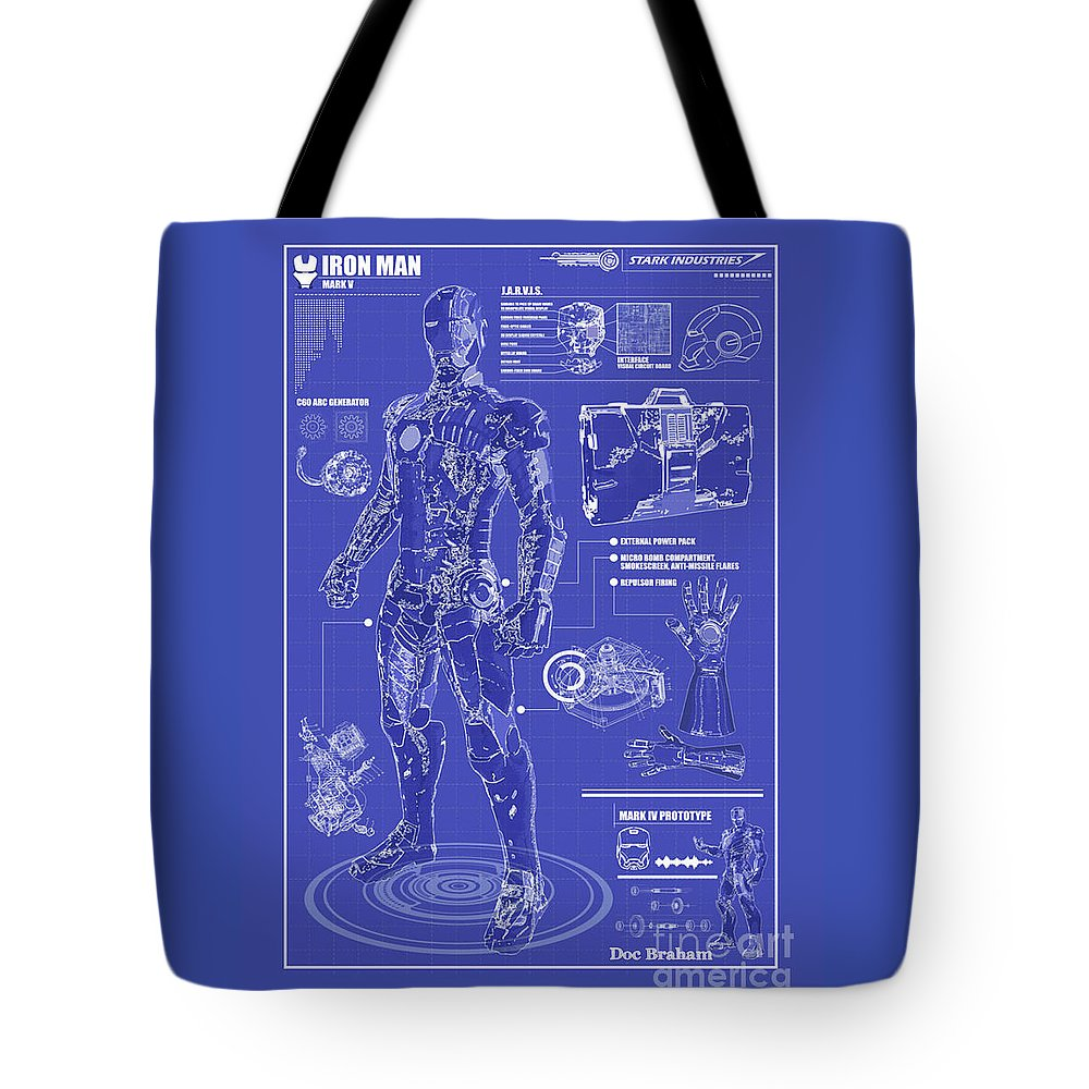 Hero Tote Bag featuring the photograph Ironman Patent by Doc Braham