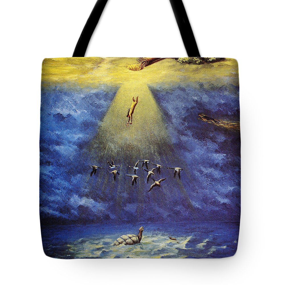 America Tote Bag featuring the photograph Iroquois Creation Myth by Granger