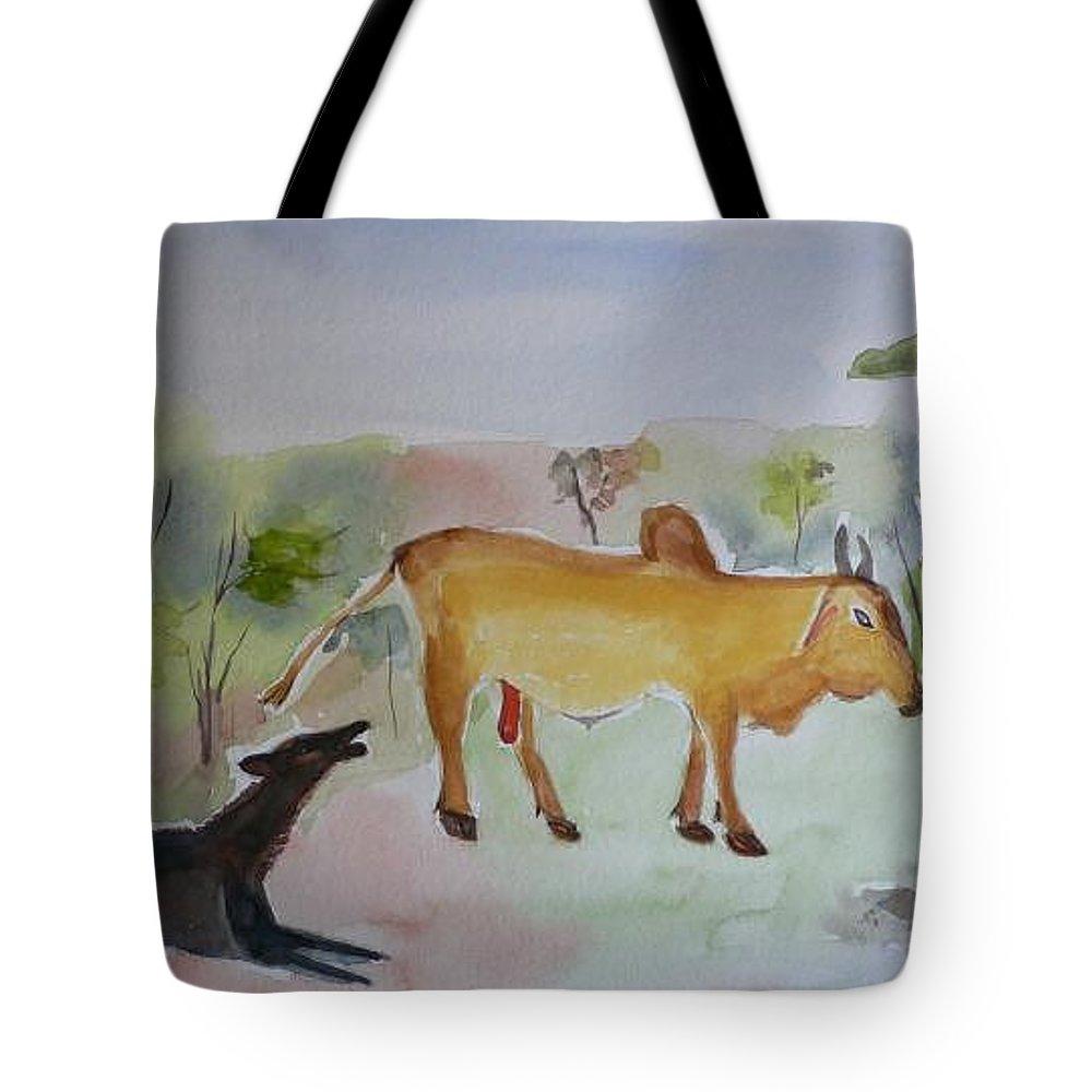 Irresistible Tote Bag featuring the painting Irresistible by Geeta Biswas