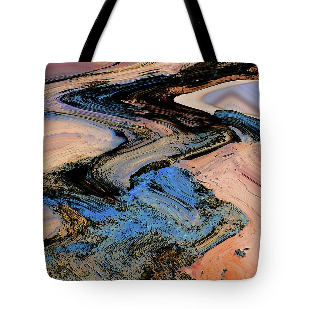 Abstract Tote Bag featuring the digital art Irrigation by Lenore Senior