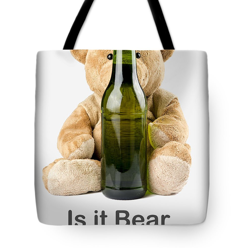 Teddy Tote Bag featuring the photograph Is It Bear O'clock Yet 02 by Charlie Bear