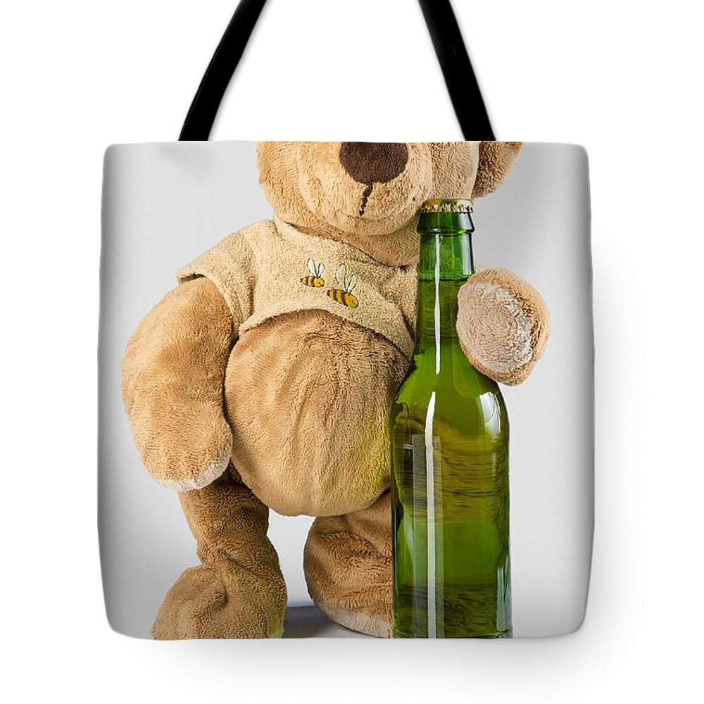 Teddy Tote Bag featuring the photograph Is It Bear O'clock Yet 03 by Charlie Bear