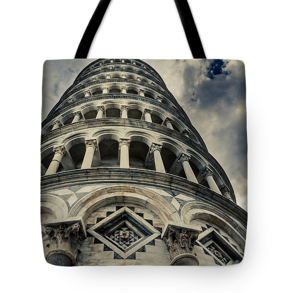 Pisa Tote Bag featuring the photograph Is It Oblique? by Peter Mojzes