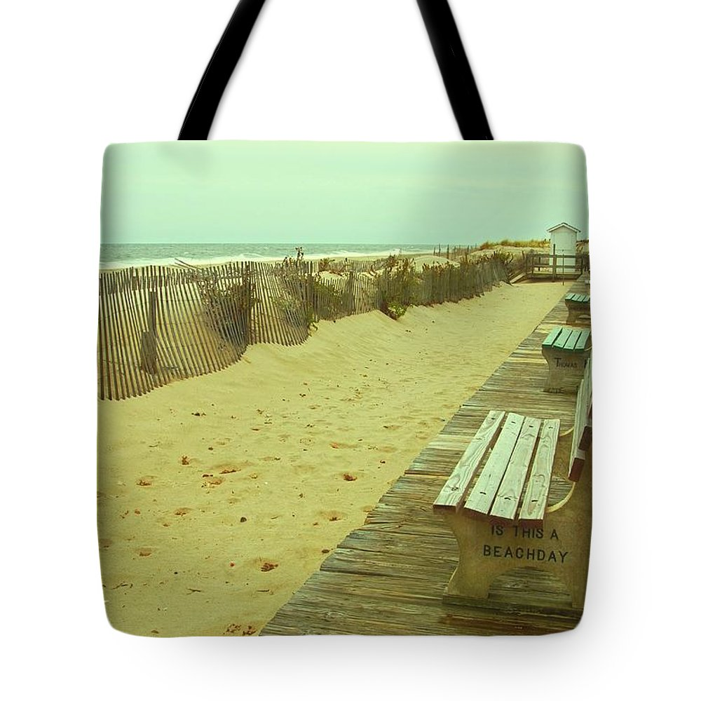 Jersey Shore Tote Bag featuring the photograph Is This A Beach Day - Jersey Shore by Angie Tirado