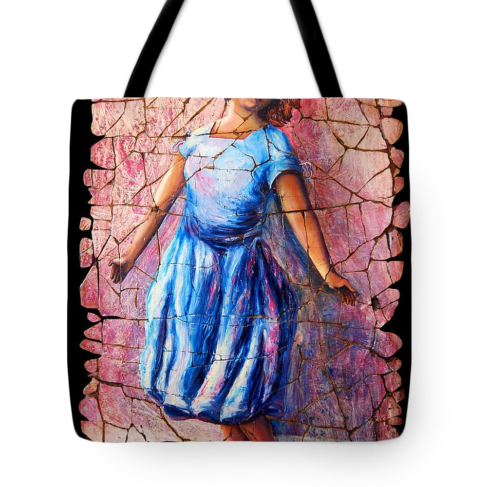 Isadora Duncan Tote Bag featuring the painting Isadora Duncan - 2 by Lena Owens OLena Art