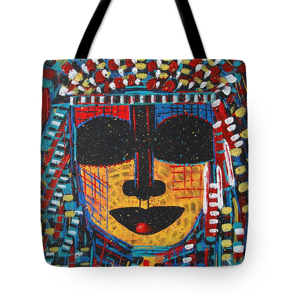 Abstract Tote Bag featuring the painting Isatoria by Natalie Holland