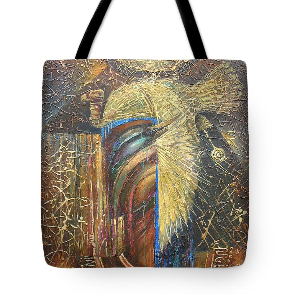 Isis Tote Bag featuring the painting Isis. Egyptian Goddess by Valentina Kondrashova
