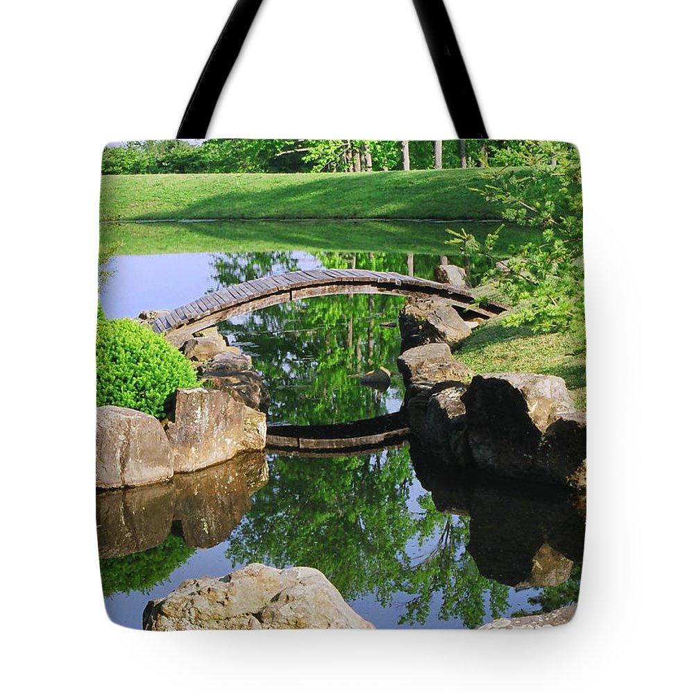 Island Tote Bag featuring the photograph Island Bridge by Amanda Jones