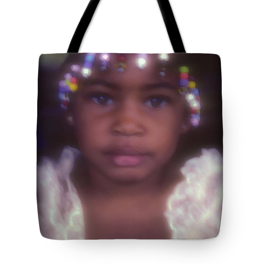 Girl Portraits Tote Bag featuring the photograph Island Girl by Stephen Anderson