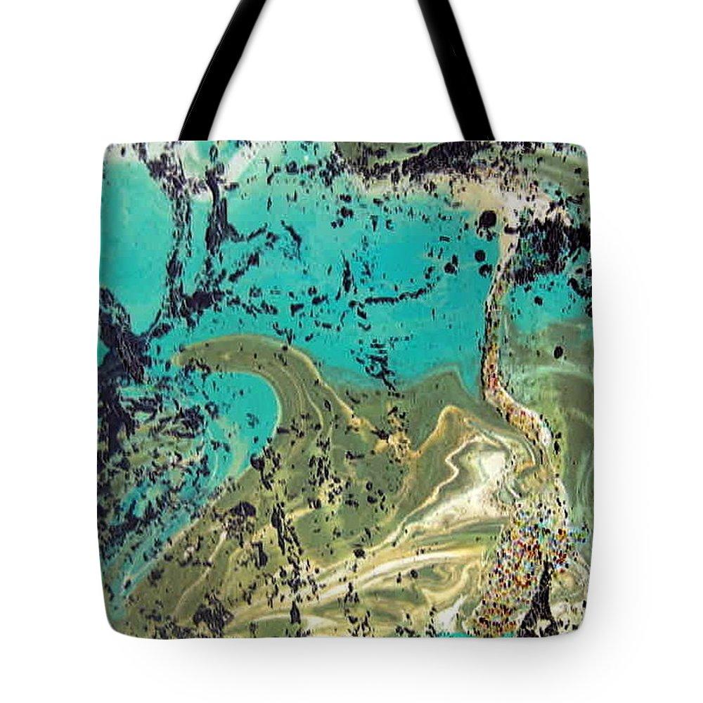 Island Tote Bag featuring the painting Island Lagoon by Dawn Hough Sebaugh